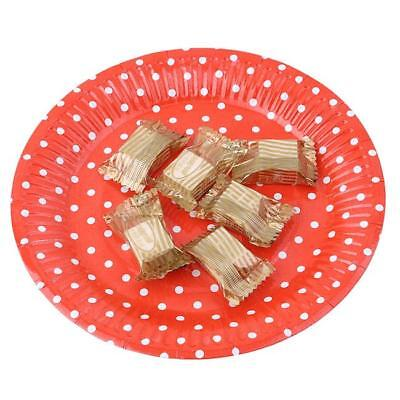 10x Baby Shower Paper Plate Polka Dot Spotty Tableware Party  Weddings 8C