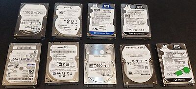Lot Of 9. 320GB SATA 7200RPM 5400RPM 2.5 Inch laptop Hard Drives Mixed Brands