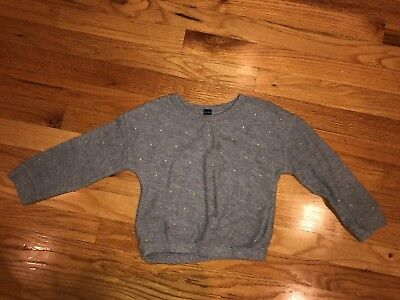 Baby GAP Girls Long Sleeve gray Sweater Shirt Spring Everyday Size 4 Years