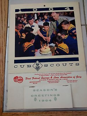 Vintage 1964 Cub Scouts Of America Calender