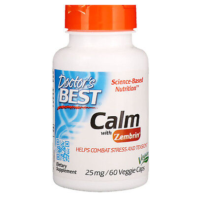 Doctor s Best Calm with Zembrin 25 mg 60 Veggie Caps Gluten-Free, Soy-Free,