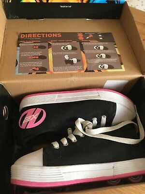 Heelys size 4 girls Trainers with removable Wheels Roller Skates Shoe