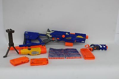 NERF N-Strike Longstrike CS-6 With Amoom Sniper Scope And Firestrike Pistol