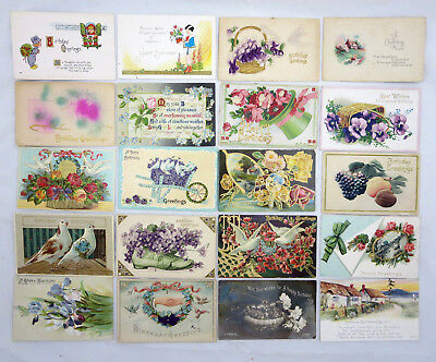 Lot of Over 50 Vintage Birthday Greeting Postcards