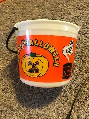 Vintage Burger King Halloween Bucket Pail 1986 RARE