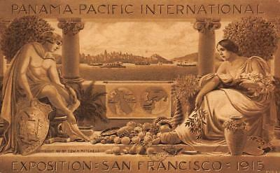 Panama-Pacific Expo San Francisco CA PPIE 1915 Poster-Style Art Vintage Postcard