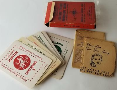 1943 Zolar's 32 Planetary Fortune Telling Cards w/ Lucky Numbers w/ Instructions