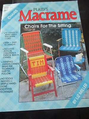 PLAID'S Vintage CHAIRS FOR THE SITTING Macrame PATTERN BOOKLET - 1980's