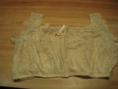 Antique Lace Camisole : Mother of Pearl Buttons