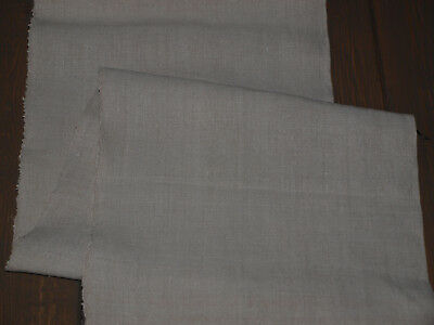 Yardage Antique Old Organic Natural Linen Flax Handwoven Homespun Fabric