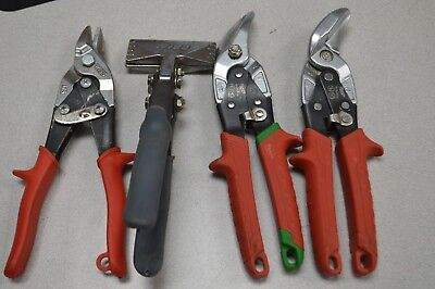 Milwaukee and Wiss Sheet Metal Tools (Snips, bender, etc) Four Units,, $6 ship!