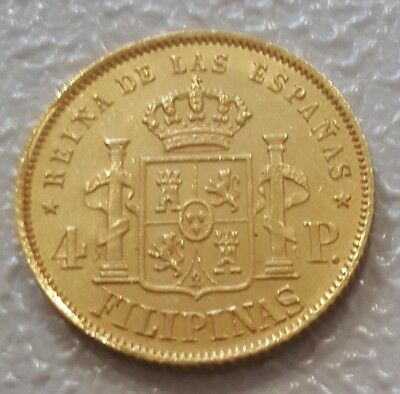 1868 4 Peso Gold Philippines