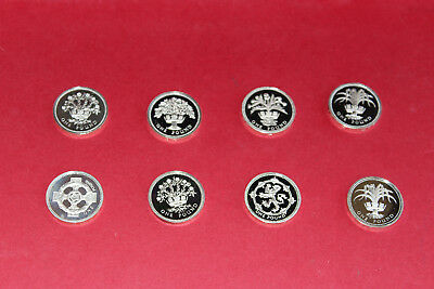 Uk One Pound Proof Coin Lot Of 8Pcs
