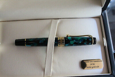 Aurora Optima Auroloide  Green Fountain Pen