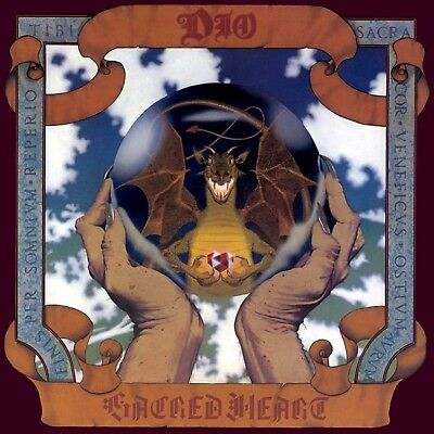 Dio SACRED HEART 140g LIMITED EDITION Rocktober NEW SEALED CLEAR VINYL LP