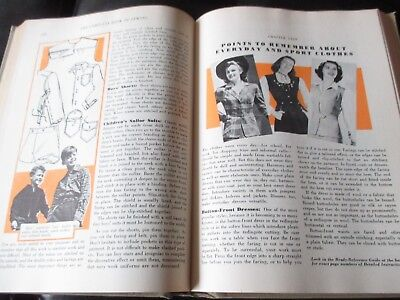 Vintage THE COMPLETE BOOK OF SEWING by TALBOT Sewing INSTRUCTION BOOK - 1943