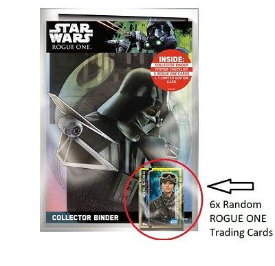 Star Wars TOPPS Rogue One 6 Random Trading Cards From Starter Pack
