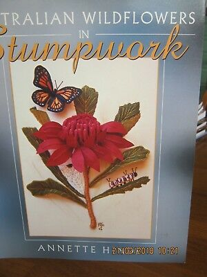 Australian Wildflowers In Stumpwork By Annette Hinde New Condition