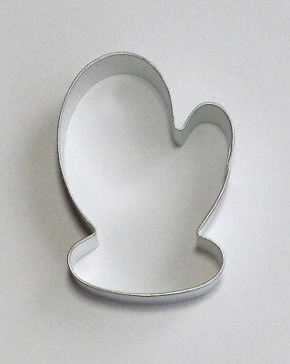 """3.5"""" Santa Mitten Glove Tin Plated Steel Fondant R&M Cookie Cutter Xmas Party"""