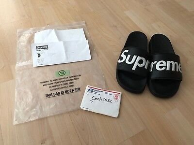 ff0b63e3ff28fd Supreme Sandals Black Size 12 Mens S S 2014 14  100% Authentic Slippers