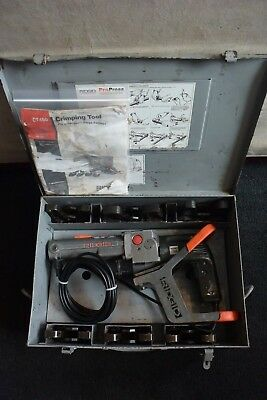 "Ridgid Brand Propress Crimper Set Model CT400 6 Jaws 1/2"" Through 2"""