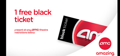 AMC Theatres FREE Black Ticket AND Large Popcorn Drink Vouchers