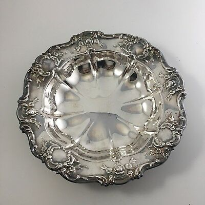 """Vintage Towle Old Master 11"""" Round Vegetable Bowl Dish Silverplate"""