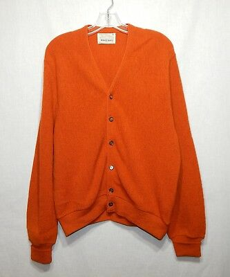 Arnold Palmer Robert Bruce Alpaca Wool Vintage Cardigan Sweater Medium M Shirt