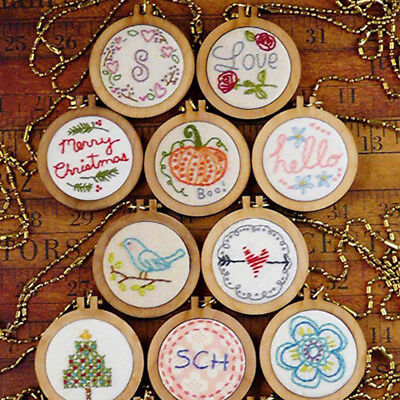 DIY Funny Mini Stitching Wooden Frame Hand Cross Embroidery Hoop Crafts