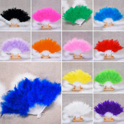 Stage Feather Fan Full Cashmere Thickened Feather Fan