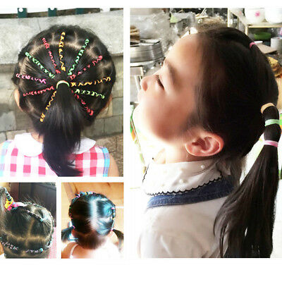 380-400x Girl's Rubber Band Hair Elastic Ties Ponytail Holders Multi-Color