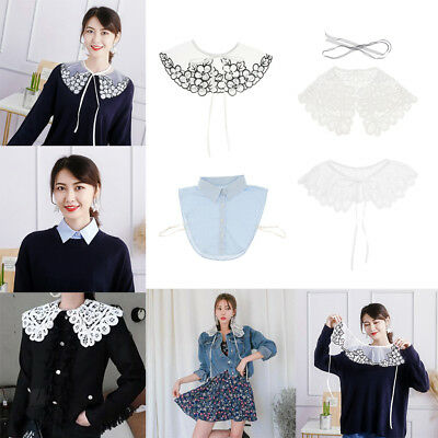 Detachable False Collar Blouse Shirt Dickey Peter Pan Collar for Women Girls