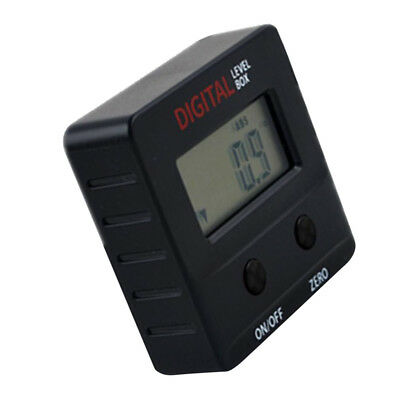 Inclinometer Digital Protractor Mini Angle Gauge 360˚ Magnetic Base Black