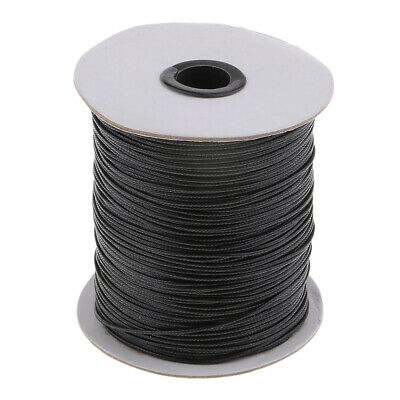170M/Roll Waxed Cotton Cord 1.5mm Jewelry Making Thread String Beading Line