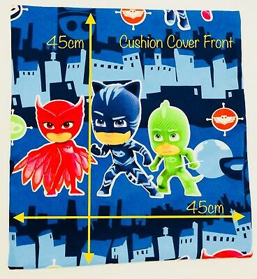 "Handmade 45cm x 45cm (17.7"" x 17.7"") Kids Cushion Cover - PJ Masks"