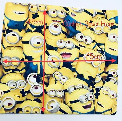 "Handmade 45cm x 45cm (17.7"" x 17.7"") Kids Cushion Cover - Minions"