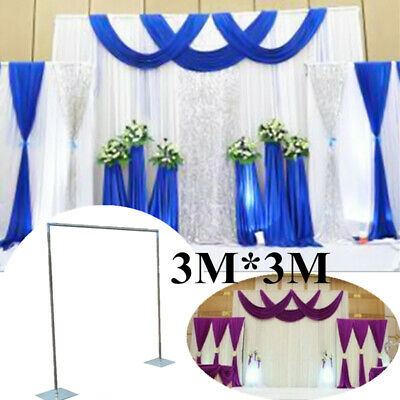 Adjustable Telescopic Wedding Party Curtain Photography Backdrop Stand Set AU