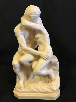 A. Santini Nude Lovers Embrace Sculpture Made In Italy Classic Figure The Kiss