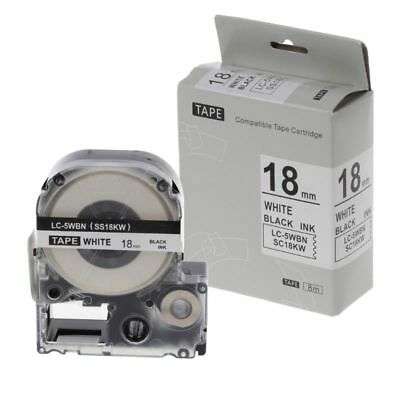 Label Tape Black on White Compatible Epson Label Tapes 18mm for LC-5WBW LW-300