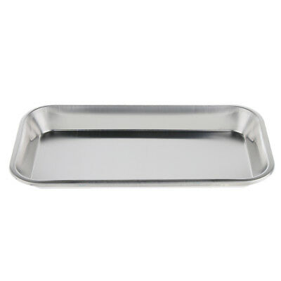 Stainless Steel Surgical Dental Instrument Sterilization Tray 225x118x25mm