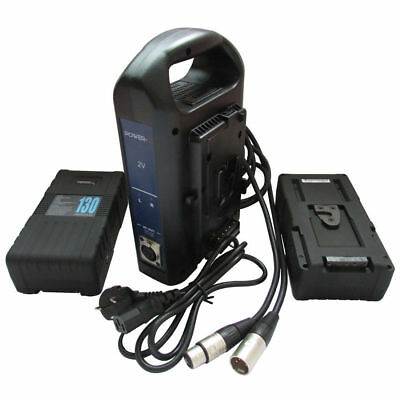 POWER-U 130Wh 14.8V 130W V-Mount Li-ion Battery Charger For SONY 250P 650P