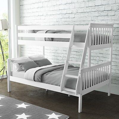 New High Quality Oxford Triple Bunk Bed in White Small Double Bedroom Furniture