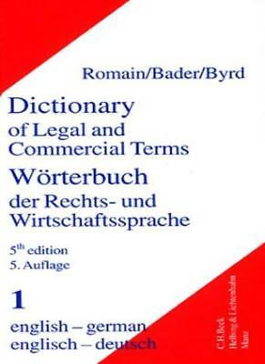 Dictionary of Legal and Commercial Terms, Beckmann 9783406454073 New*-