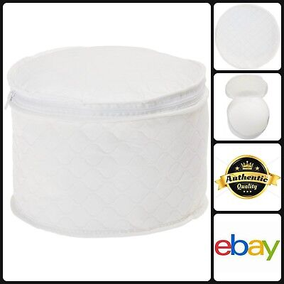 China Storage Dish Case Plate Saver Protector 8 Inch Quilted Padded Vinyl  Round