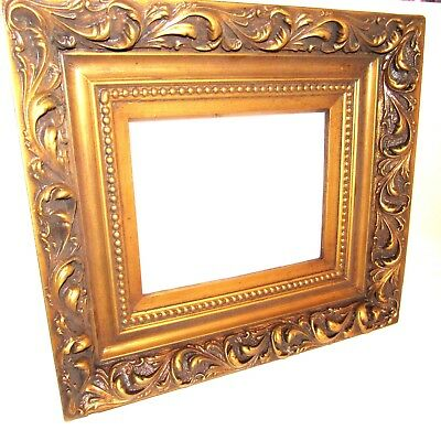 "Antique Gold Wood Picture Frame, Frames Ancient Ornate Hold Picture 93/4""x73/4"""