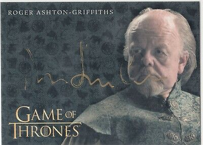 Game Of Thrones Valyrian Stahl Gold Auto Roger Ashton-Griffiths - Mace Tyrell Vl