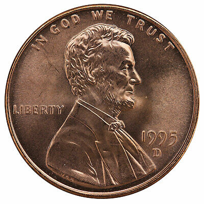 1995 D Lincoln Memorial Cent BU Penny US Coin