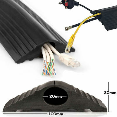 Floor Cable Cover Protector | Rubber Heavy Duty Trunking | Wire trip hazzard