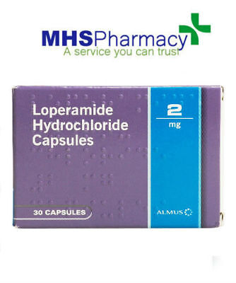 SPECIAL OFFER Loperamide (immodium) 2mg - 30 caps for relief of diarrhoea