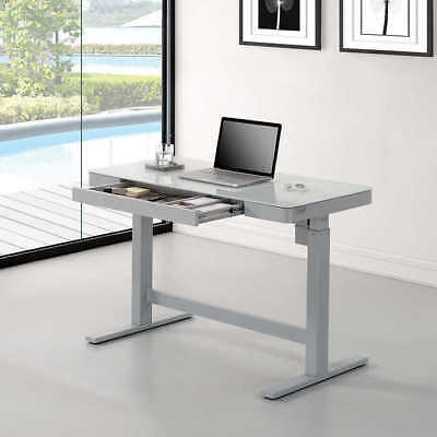 Tresanti Adjustable Height Desk with USB Ports Package is local only 96lb